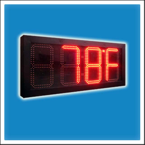 10 Inches Digit LED Time & Temperature Display Sign