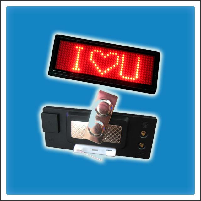 12x36 Pixels Programmable LED Name Tag Badge Display