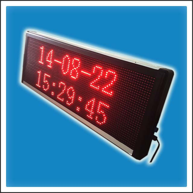 P10mm 32 Pixels Height DIP LED Scrolling Message Banner Display