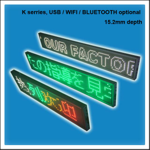 Phone Controlled Super Slim LED Scrolling Message Display Sign